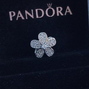 Pandora flower diamond charm